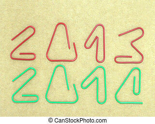 paper clip numbers by handmade