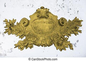骨董品, 金, 紋章