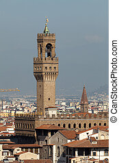 Florence - view of Palazzo Vecchio from Piazzale...