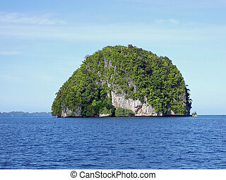 Palau Rock Formation - Rock Formation in Sea with blue sky