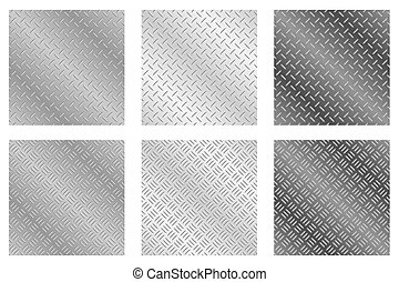 Chequer Plate Metal Backgrounds - Repeating, tileable...