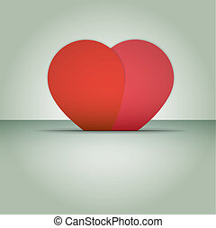 Heart vector Valentines day. Love.