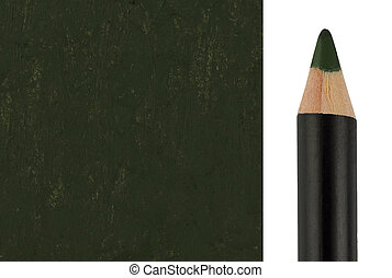 Green Makeup pencil with sample stroke