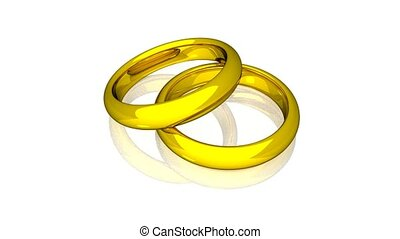 Wedding Rings - Gold - Animation
