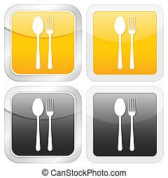 square icon cutlery