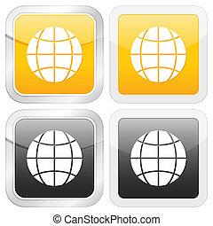 square icon globe