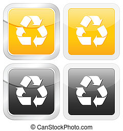 square icon recycle symbol