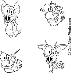 Cartoon dragons