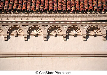 cornice - close up photo of a cornice on a historical...