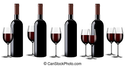 Wine bottle and glass set