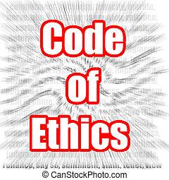 Code of Ethics - Hi-res original 3d-rendered computer...