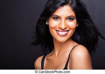 beautiful young indian model close up
