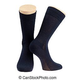 par, calcetines, maniquí