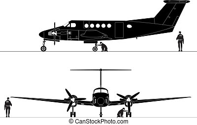 Civil utility aircraft Available EPS-8 vector format...