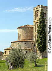 San Altimo Abbey - Closeup of San Altimo Abbey in Tuscany...