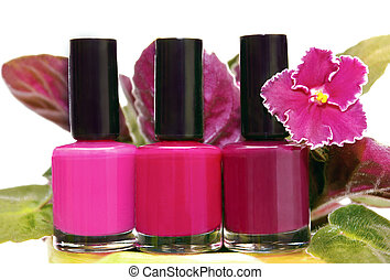 Three colored nail Polish - Three colored nail Polish with a...