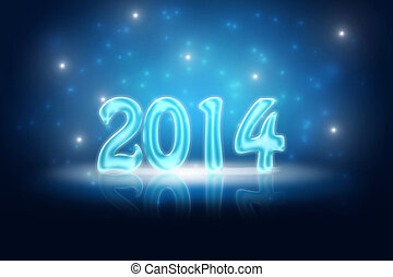 Silvester Background 2014 - glossy holiday background for...