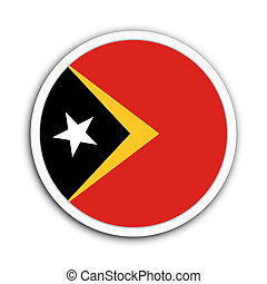 Timor Leste - Badge flag of Timor Leste