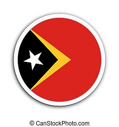 Timor Leste - Badge flag of Timor Leste