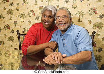 Mature couple - Portrait of mature African American couple...