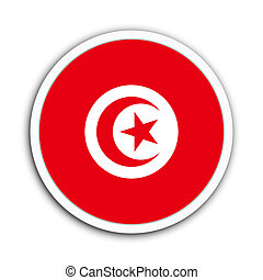 Tunisia - Badge flag of Tunisia