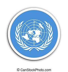 United Nations - Badge flag of United Nations