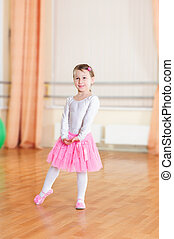 Ballet dancer at training class - Cute little ballet dancer...