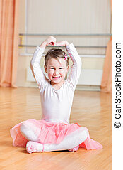 Little ballerina dance - Cute little ballerina training at...