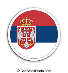 Yugoslavia - Badge flag of Yugoslavia