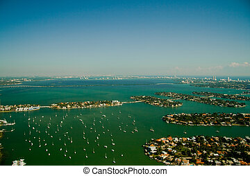 South Beach in Miami - An aerial photography of the region...