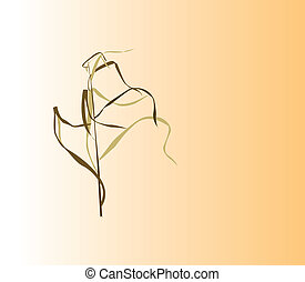 Prairie Grass - Wild grass illustration with pale gradient