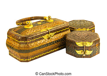 rattan traditional basketry handbag