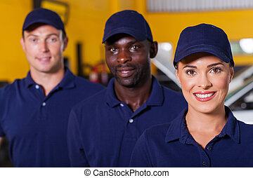 auto repair shop employees - group of auto repair shop...