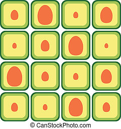 seamless avocado pattern with different stone size