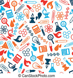 laboratory seamless pattern