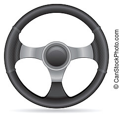 car steering wheel vector illustration isolated on white...