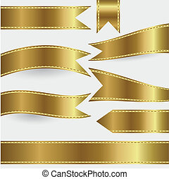 set of gold ribbons