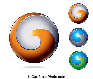abstract icon - modern abstract business colorful icon