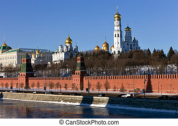 Moscow Kremlin, Russia. View from M - The Moscow Kremlin...