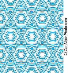 Pattern with star shapes in blue and white - Texture with...
