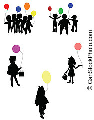 birthday party silhouettes