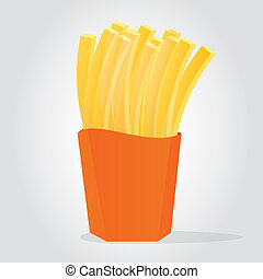 French Fries - Illustration of Golden French Fries