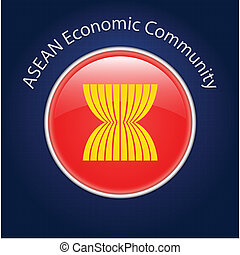 ASEAN Economic Community AEC - Vector Illustrator
