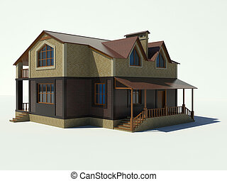 House 3D on a white background.
