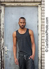 Portrait of a fashionable african american male model