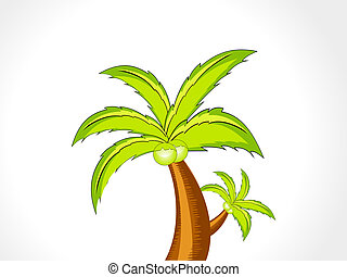 abstract vector coconut tree vector illustration