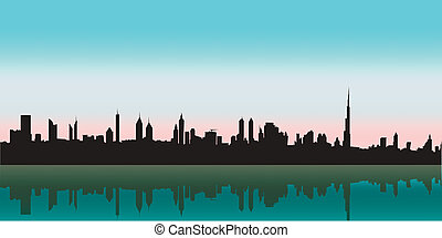 Dubai Vector Skyline. Best city in the world!