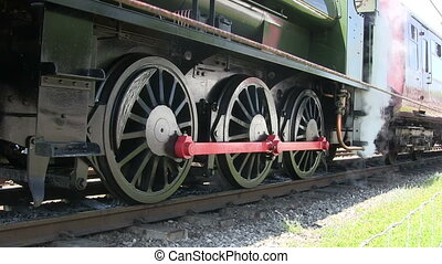 Steam train standing on a preserver line.