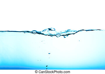 Water flow - Blue water background abstract isolated on...