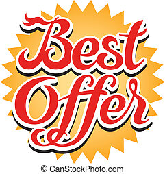 Best Offer Sticker - Best offer sticker, vector illustration